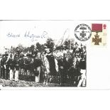 Edward Chapman VC signed 7 x 4 inch white card timestamp Defence of Rorkes Drift 2nd Bn. 24th Reg.