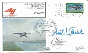 Flugkapitan Erich Warsitz signed 40th Anniversary of the First Flight by a Jet Propelled Aircraft