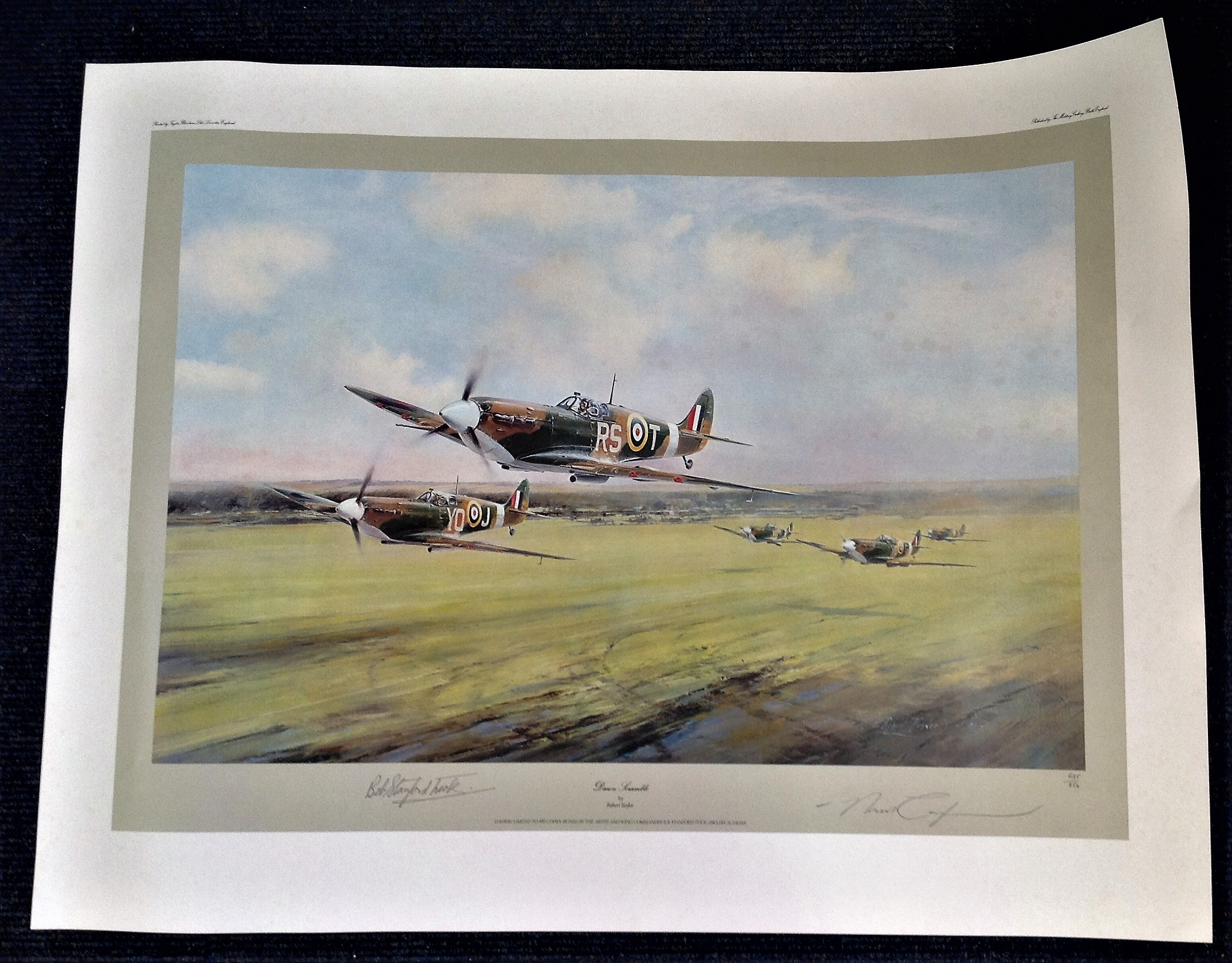 Robert Taylor Dawn Scramble 23x30 limited edition print 685 850 signed by Bob Stanford Tuck with
