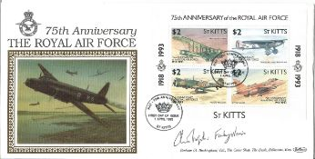 Air Chief Marshall Sir Christopher Foxley Norris GCB DSO OBE signed FDC 75th Anniversary the Royal