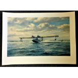 Aviation 20x27 print titled Catalina Take Off by the artist Roy Cross. Good Condition. All