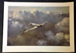 Battle of Britain 20x27 print titled Flight of Freedom by the artist Roy Cross picturing a solo