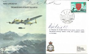 Dambuster pilot AM Sir Harold Micky Martin DSO DFC AFC and Bill Reid VC signed Avro Lancaster bomber