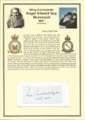 Wing Commander Roger Edward Guy Morewood MiD*. Small signature piece. Set on superb descriptive