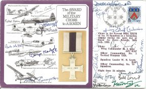Multiple signed Military cross cover, 15 autographs. Inc Fred West VC, John Frost, Robert Runcie MC,