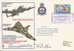 Barnes Wallis and F. M. A. Hines signed The Dam Busters Commemorating 617 Squadron Association