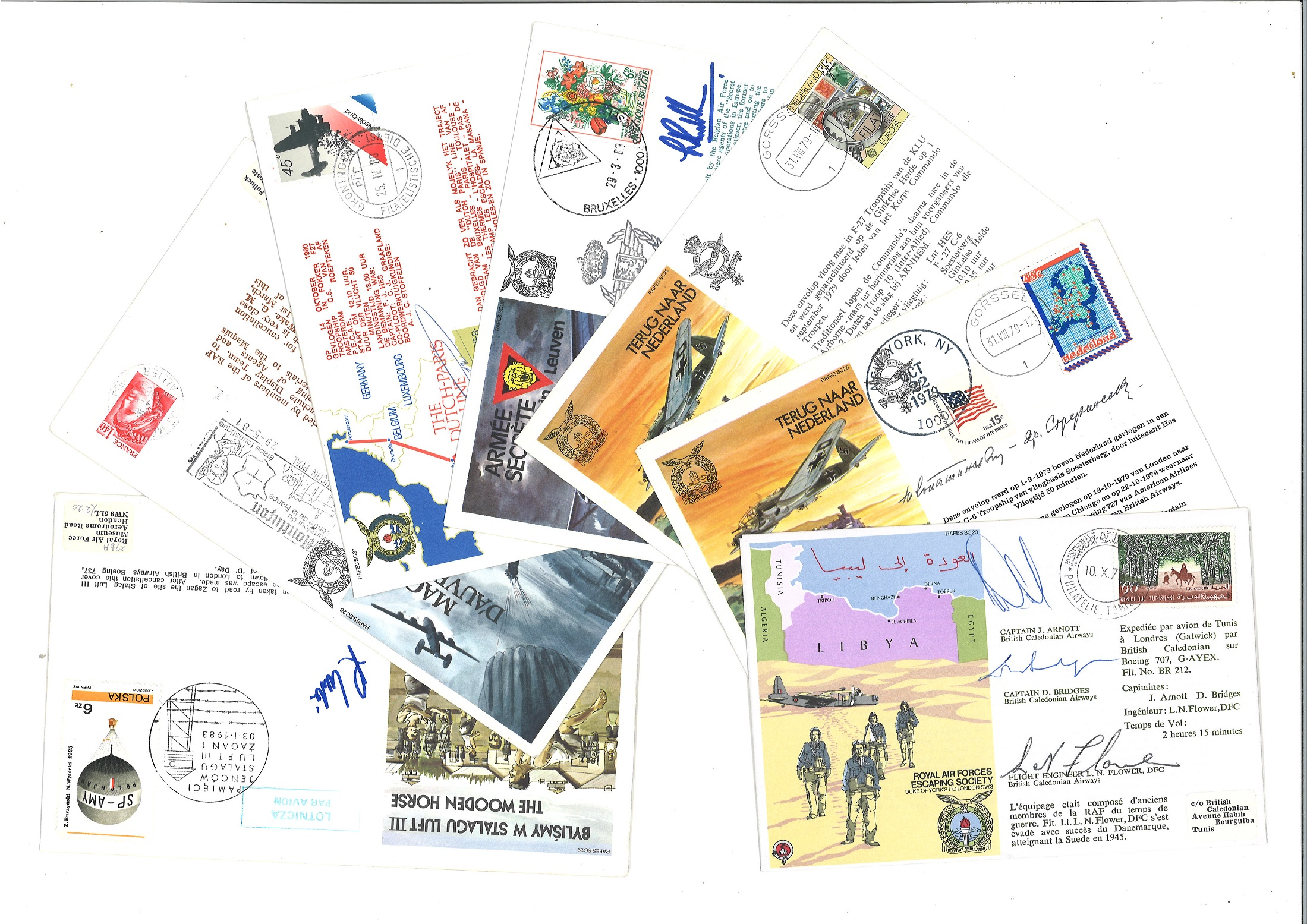 RAF Escaping Society collection of pilot signed covers. RAFES SC1 40 all flown by the RAF and signed - Image 5 of 5