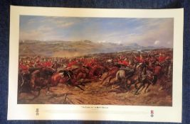Historical print The Charge of the Heavy Brigade 25th October 1854 approx 34x25 by the artist G.