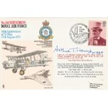 Sir Arthur T. Harris Bt GCB OBE AFC LLD signed No. 101 Squadron RAF 30th Anniversary of V J Day 15th