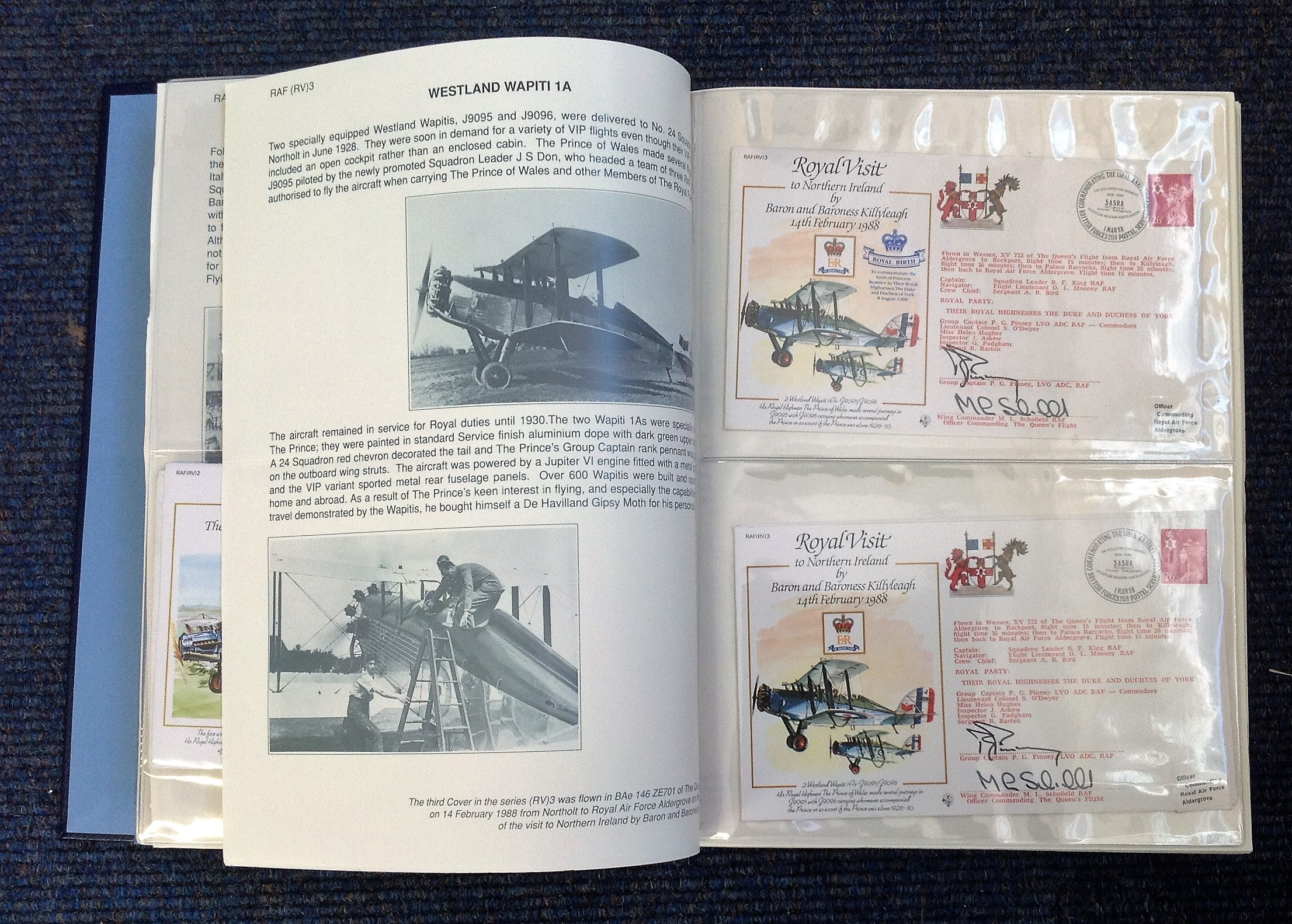 Royal Visit Queens Flight FDC collection RAF cover collection 52 pilots and VIP signed cover - Image 2 of 6