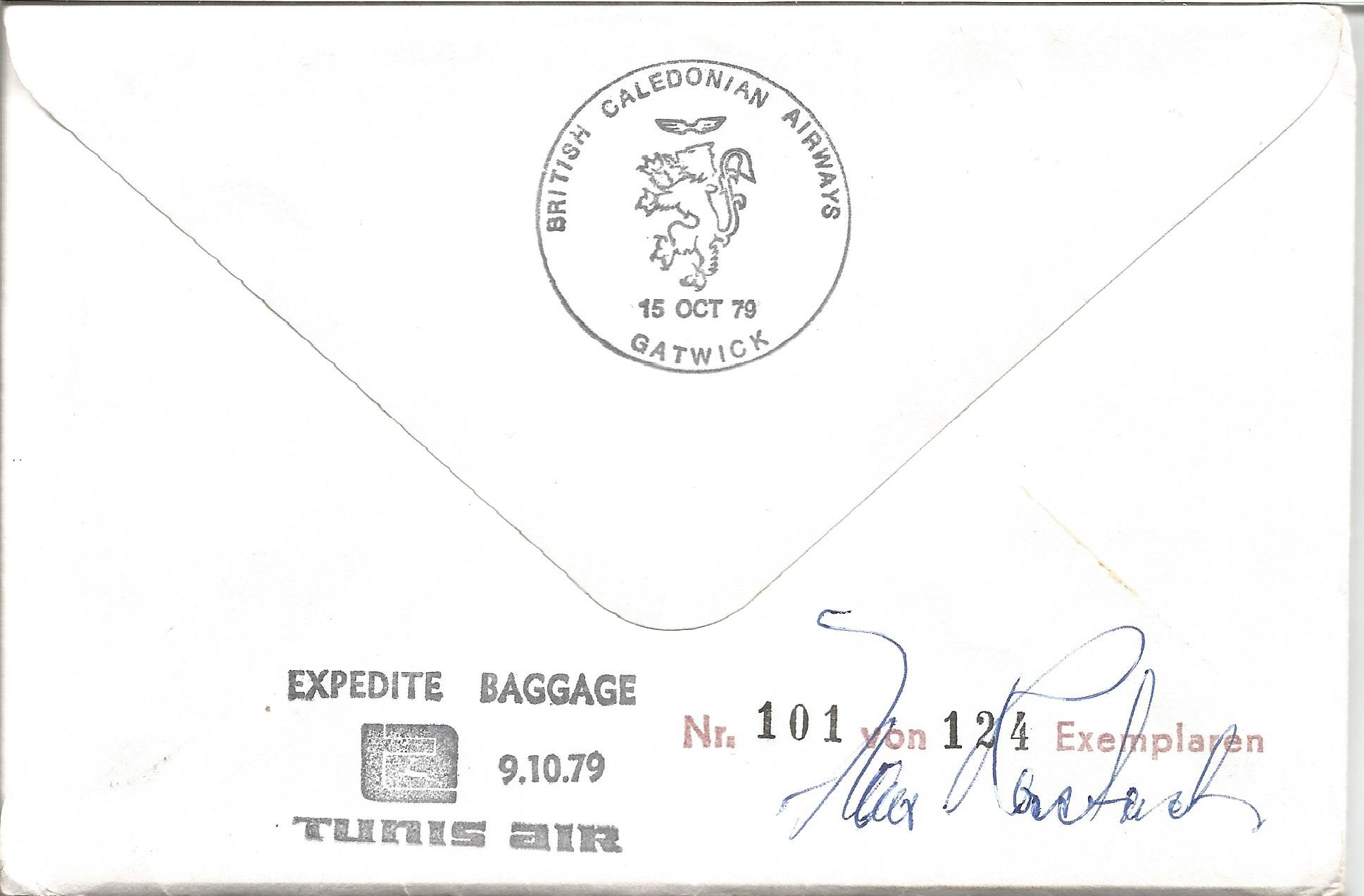 Glorious Dozen Luftwaffe aces multiple signed cover. North Africa multi signed FDC No 101 of 124. - Image 2 of 2