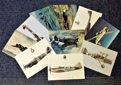 Aviation postcard collection includes 10 squadron print cards such as North American Mustang I No
