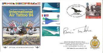 Brian Trubshaw CBE MVO FRAeS signed RAF Benevolent Funds International Tattoo 94 cover. Brian
