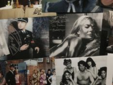 TV Film Music autograph collection of Thirty 10 x 8 inch photos. Includes Shirley Eaton Goldfinger