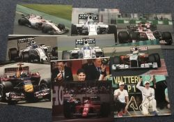 Formula One Motor racing signed collection. Ten 12 x 8 inch colour photos inc. Felipe Massa