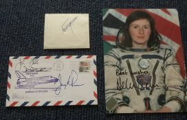 Astronaut Space signed collection. Helen Sharman Jerry Ross, John Blaha and Richard Richards