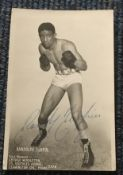 Randolph Turpin boxer signed 6 x 4 inch b/w photo in fight pose.