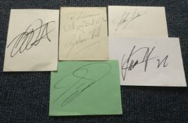 Motor racing World Champions signed collection signed cards inc Graham Hill, John Surtees