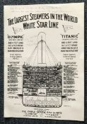 Titanic survivors Michel Navratil and Millvina Dean signed A3 Titanic side on Sectional design