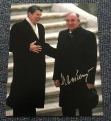 Mikhail Gorbachev Former President of the Soviet Union signed stunning 10 x 8 inch colour photo