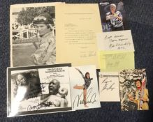 Sport signed collection includes George Best and Bill Shankly signed pages, Nadia Comaneci