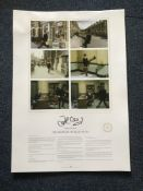 John Cleese Hand Signed Ministry Of Silly Walks poster A2 Lithograph limited edition