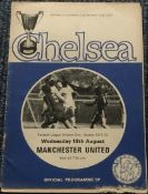 Man Utd legends multiple signed Football Chelsea 1971 programme v Man United.