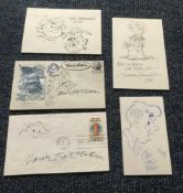 Cartoonists autograph and original sketch collection