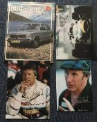 Formula 1 Motor Racing Champions signed collection inc. Graham Hill signed magazine
