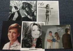 TV/ Film actresses signed collection. Five 10 x 8 inch photos, includes Jacqueline Bissett