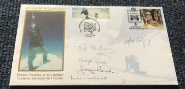 50th Anniversary of the conquest of Everest multiple signed Internetstamps official FDC.