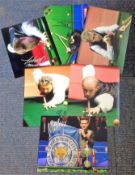 Snooker collection 6 signed colour photos from some well-known names signatures include Peter Ebdon,