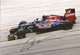 Motor Racing Jean-Éric Vergne signed 12x8 colour photo pictured driving for Toro Rosso in Formula