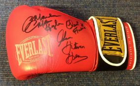 Boxing Legends Marvin Hagler and Thomas Hearns signed Everlast Boxing Glove. Good Condition. All