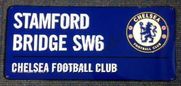 Football Timo Werner signed Stamford Bridge SW6 commemorative metal road sign. Timo Werner ( born