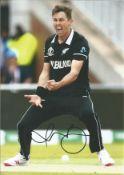 Cricket Trent Boult signed 12x8 colour photo. Trent Alexander Boult (born 22 July 1989) is a New