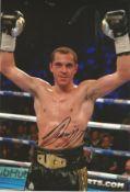 Boxing Scott Quigg signed 12x8 colour photo. Scott Quigg (born 9 October 1988) is a British former