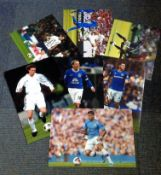 Football collection 6 assorted signed colour photos from some well-known names such as a James