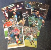 Football collection 13 fantastic, signed colour magazine photos includes all well-known names such