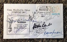 Football 1966 World Cup Winners multi signed FDC Copa Mundial de Futbol 82 signatures include
