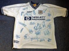Football Tottenham Hotspur multi signed home shirt from the 2000/2001 season 20 signatures