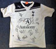Football Tottenham Hotspur 2013/14 multi signed shirt 12 signatures includes Roberto Soldado, Kyle
