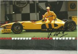 Motor Racing Ralf Schumacher signed 12x8 colour photo pictured while driving for Jordan in Formula