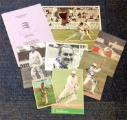 Cricket collection 8 assorted signed post card photos and signature pieces great names include