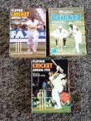 Cricket collection Playfair vintage Annuals for the years 1974, 1978 and 1980. Good Condition. All