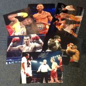 Boxing collection 6 fantastic, signed colour photos from some well-known names of the British ring