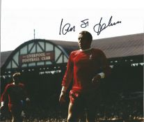 Football Ian St John signed 10x8 colour photo pictured while playing for Liverpool. Ian St John (