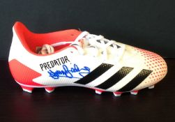 Football Sir Trevor Brooking signed Adidas Predator football boot. Sir Trevor David Brooking, CBE (