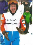 Winter Olympics Eddie Edwards signed colour photo. Michael Edwards (born 5 December 1963), known