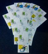 Football FDC Collection 15 commemorative covers from the European Championship held in Italy all